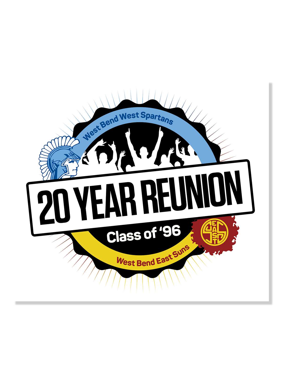 West Bend High School, Class of 1996, Reunion Logo on Behance