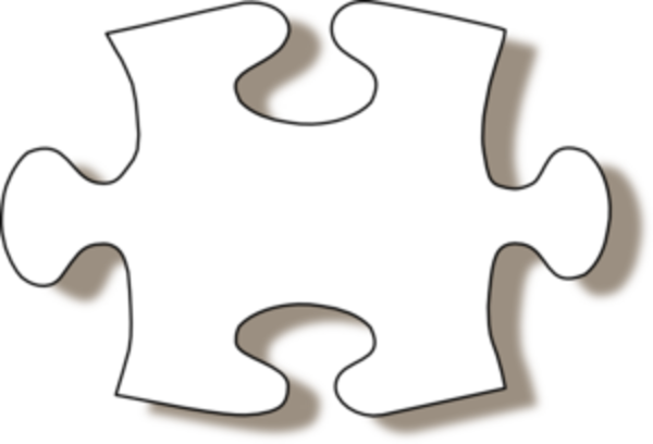 Large blank puzzle piece clipart best for Large blank puzzle pieces template