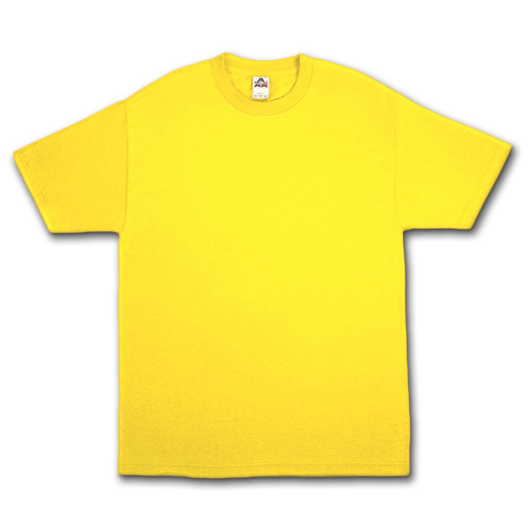 blank yellow t shirt clipart best