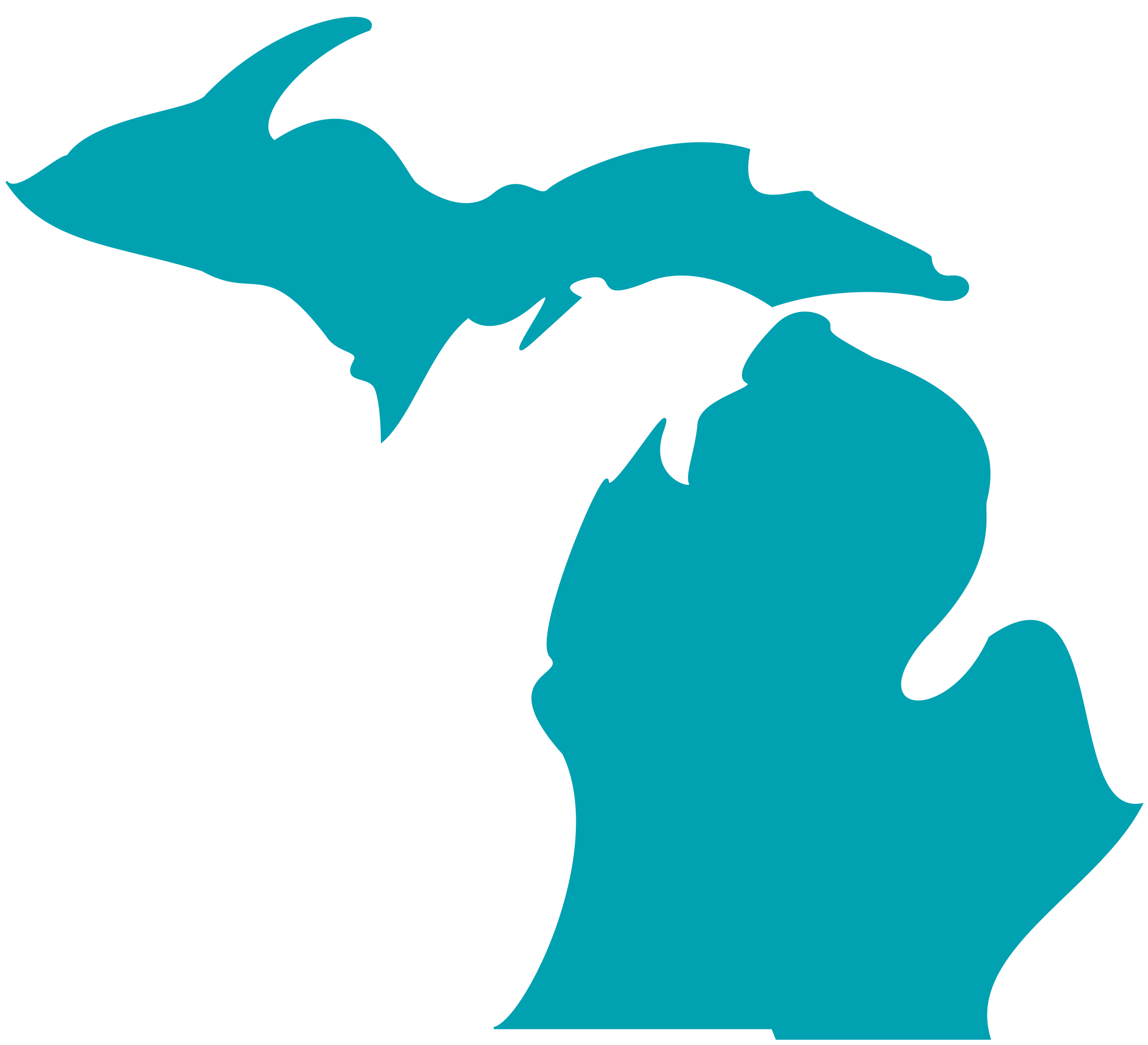 State Of Michigan Outline - ClipArt Best