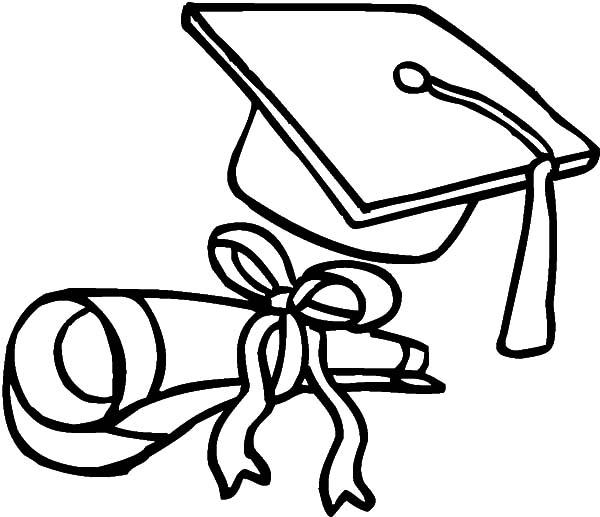 graduation coloring pages 24253 clipart best clipart best