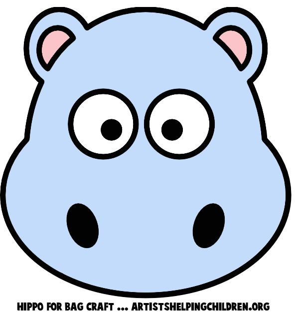 Easy Drawings Of Hippotamus To Colour - ClipArt Best
