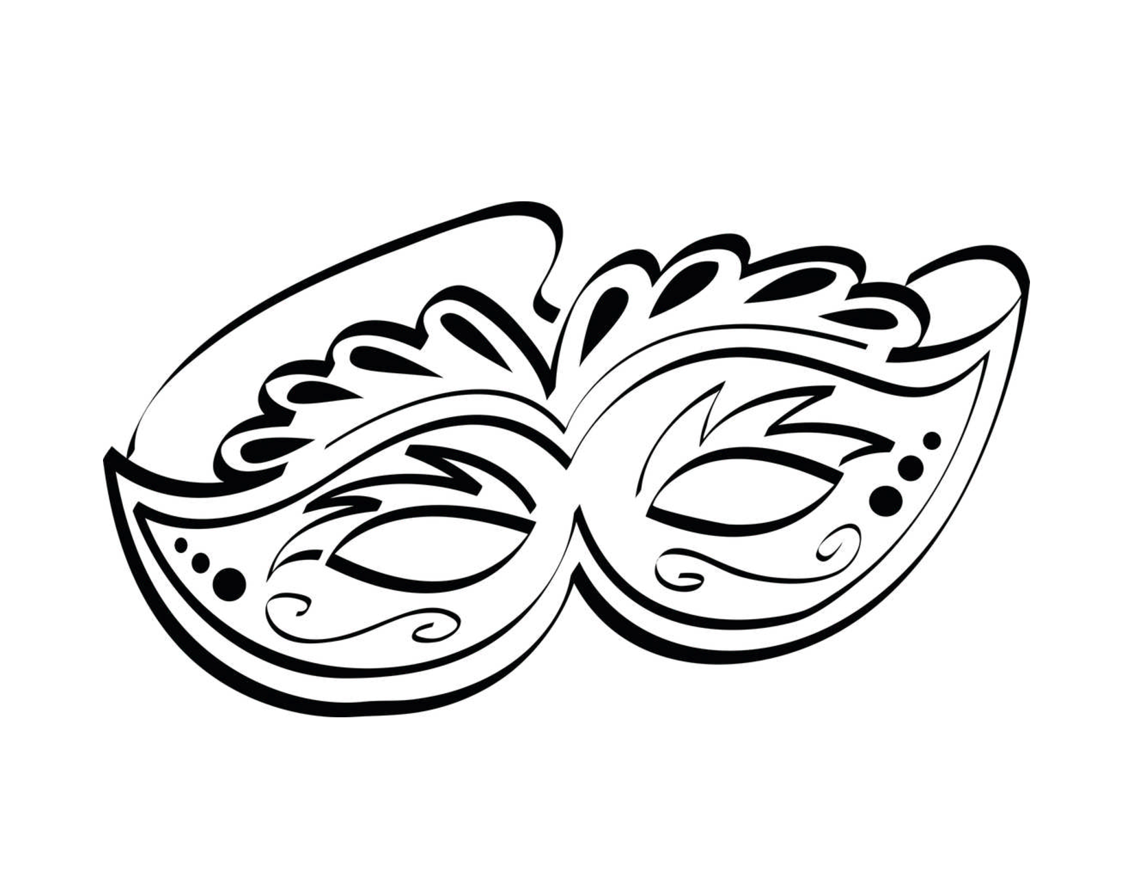 This is an image of Vibrant Mask Template for Adults