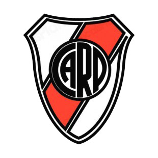 Club atletico river plate soccer team logo soccer teams decals ...