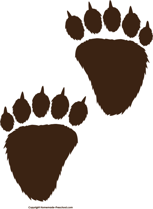 Clip Art Bear Paw Clip Art grizzly bear paw print clipart best clipart