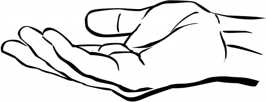 Hand Outline Drawing