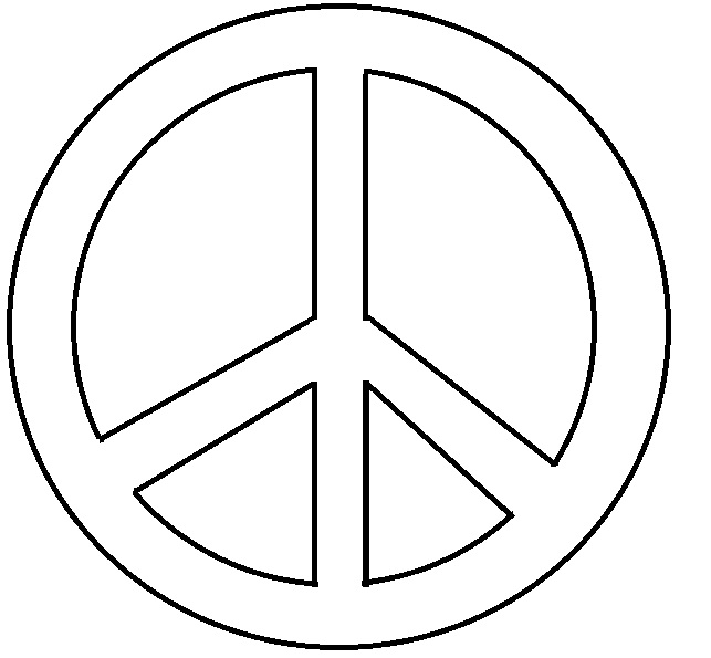 Coloring Pages Of Peace Signs - Coloring Home | 595x643