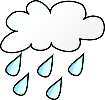 Weather clipart image cloudy with rain