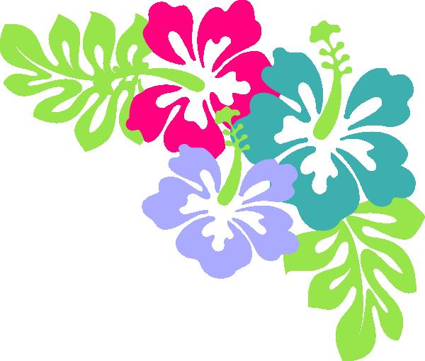 Hawaiian Flowers Border Clip Art - ClipArt Best