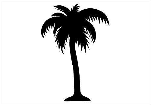 Palm Tree Silhouette Png Clipart Best