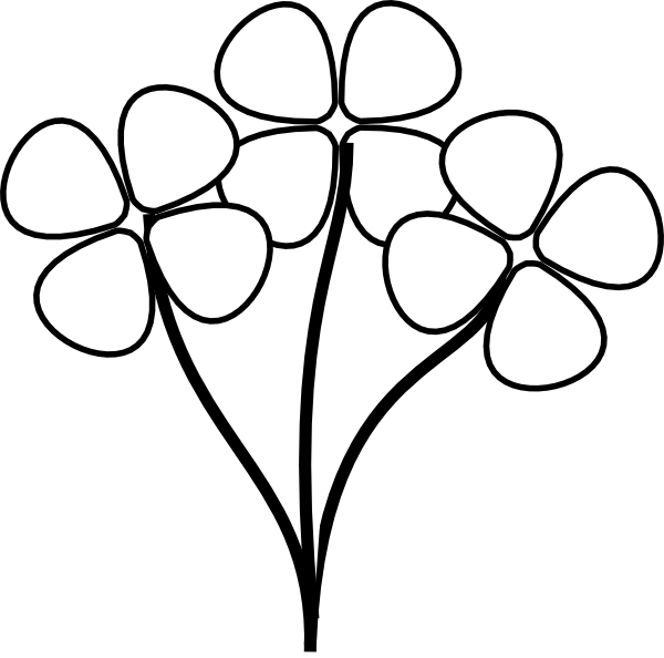 Outline Of Daffodil - ClipArt Best