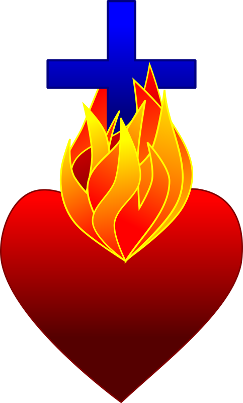 free cross and heart clipart - photo #25
