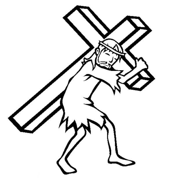 free clip art jesus carrying cross - photo #11
