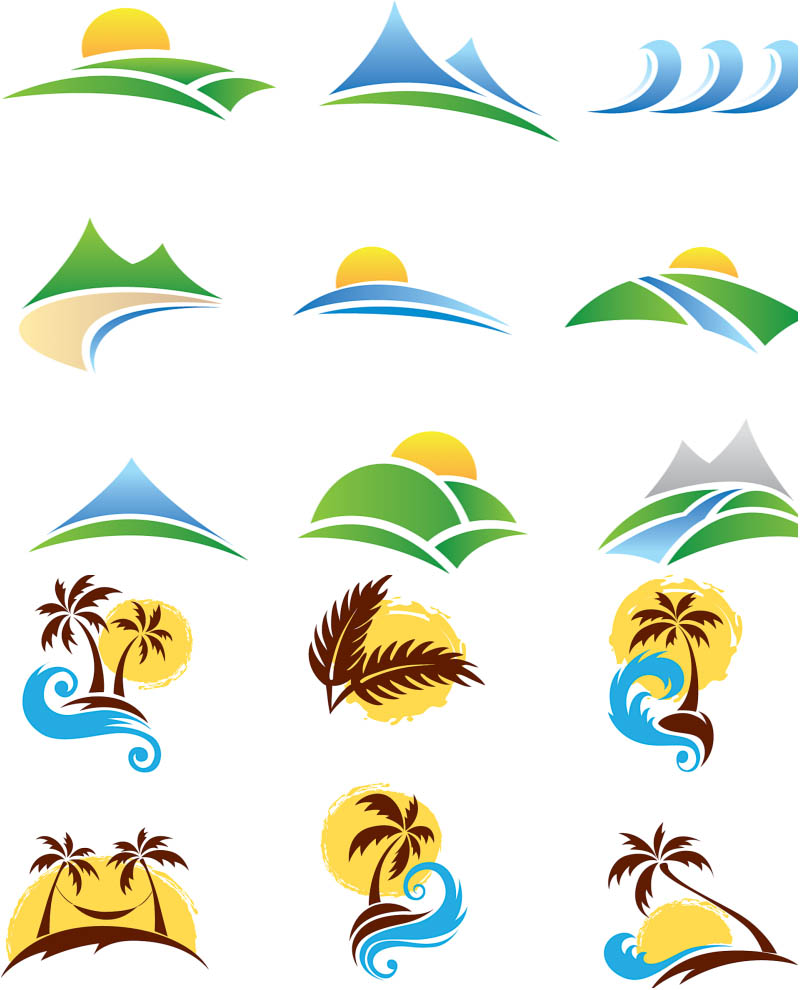 beach logo vector clipart best