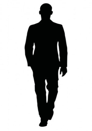 Silhouette of a man clipart