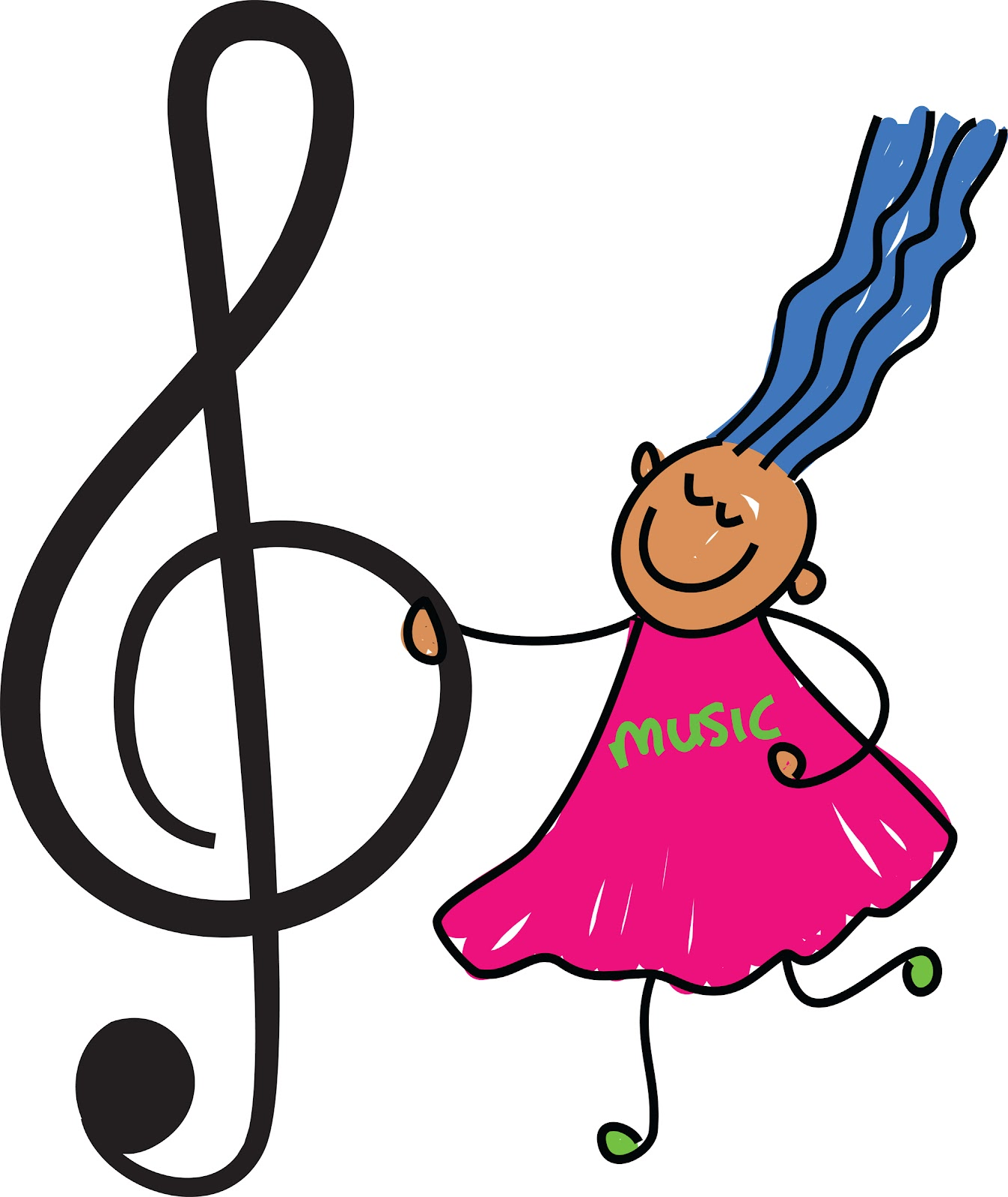 Music teacher clip art