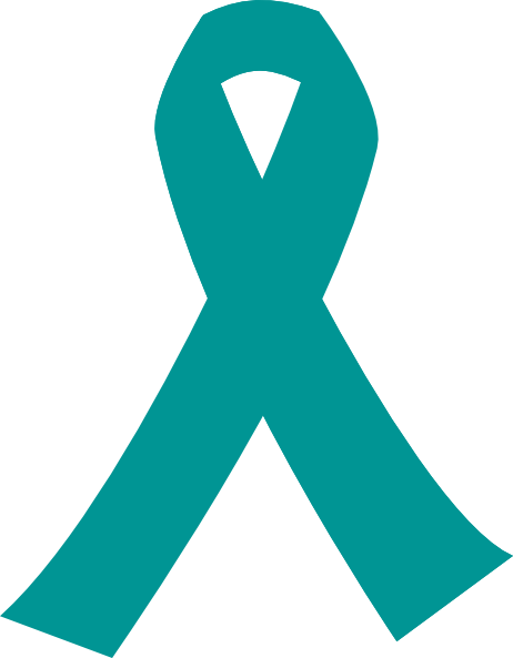 Teal Cancer Ribbon Clipart