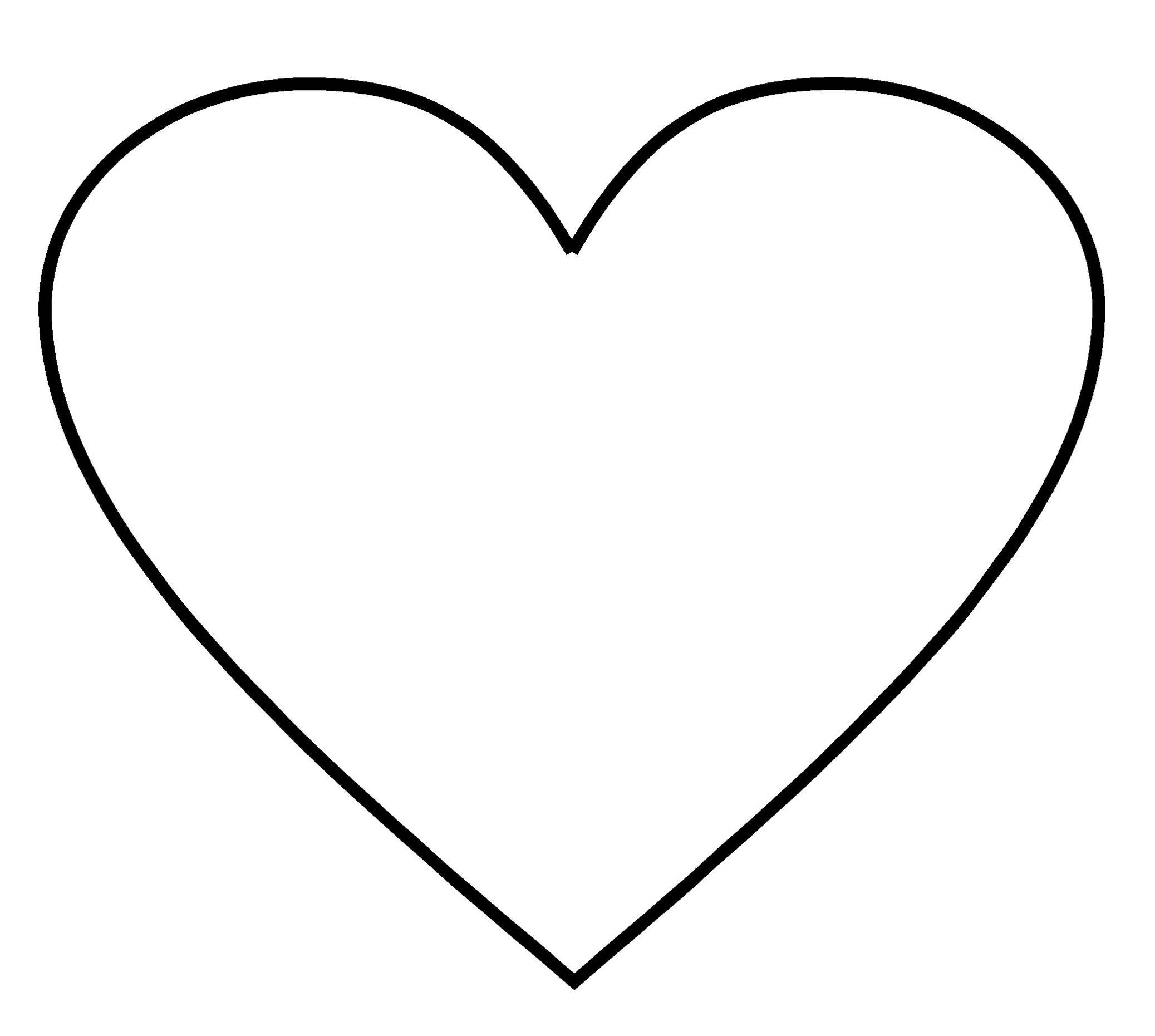 It's just a photo of Terrible Large Heart Template Printable