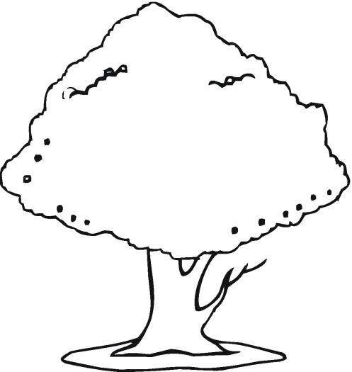 Coloring Clip Art Trees