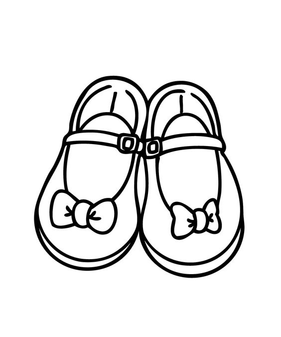 Running Shoe Coloring Page ClipArt