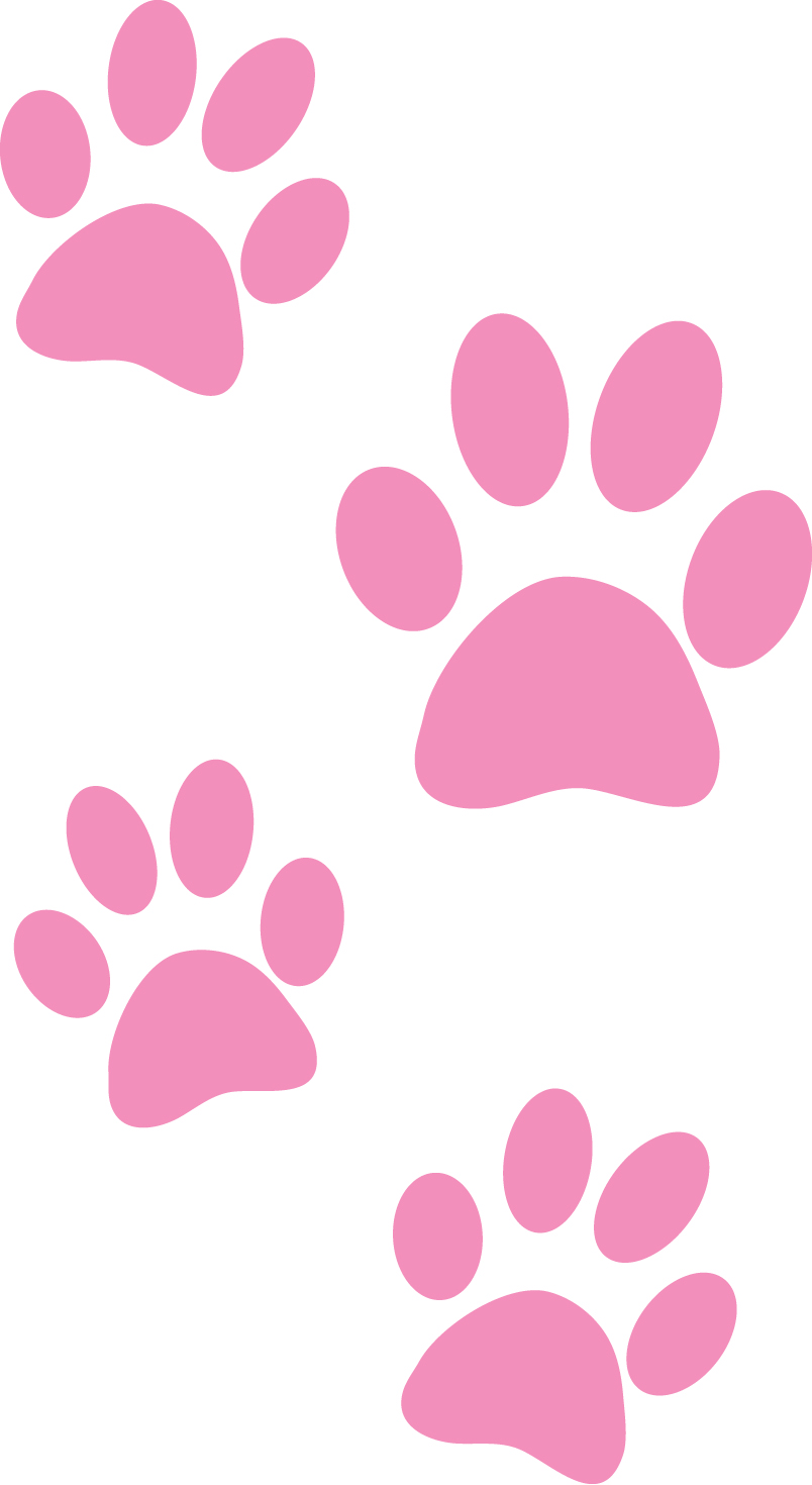 Pink Paw Print Clip Ar...