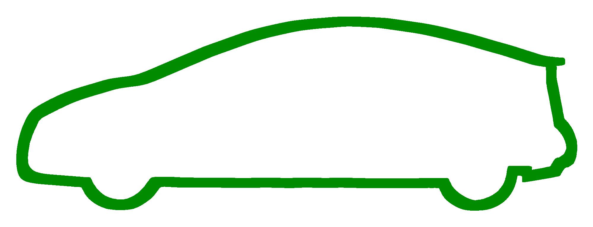 Cool car outline logo 2