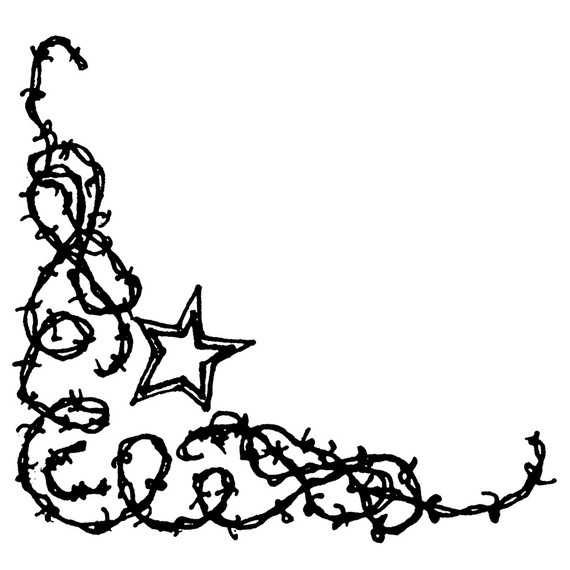 barbed wire western clipart - photo #6