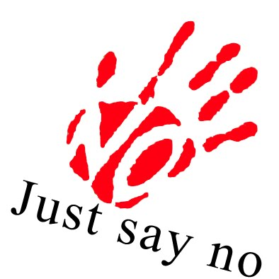 just say no sign   clipart best