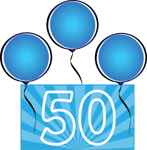 50th Birthday Clip Art Borders - ClipArt Best