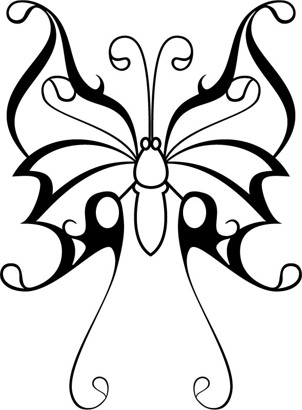 Tribal Art Butterfly - ClipArt Best