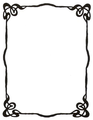 Art Nouveau Ink Picture Frame By Enchantedgal Stock image - vector ...