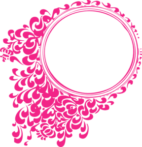 Pink Oval Frame clip art - vector clip art online, royalty free ...