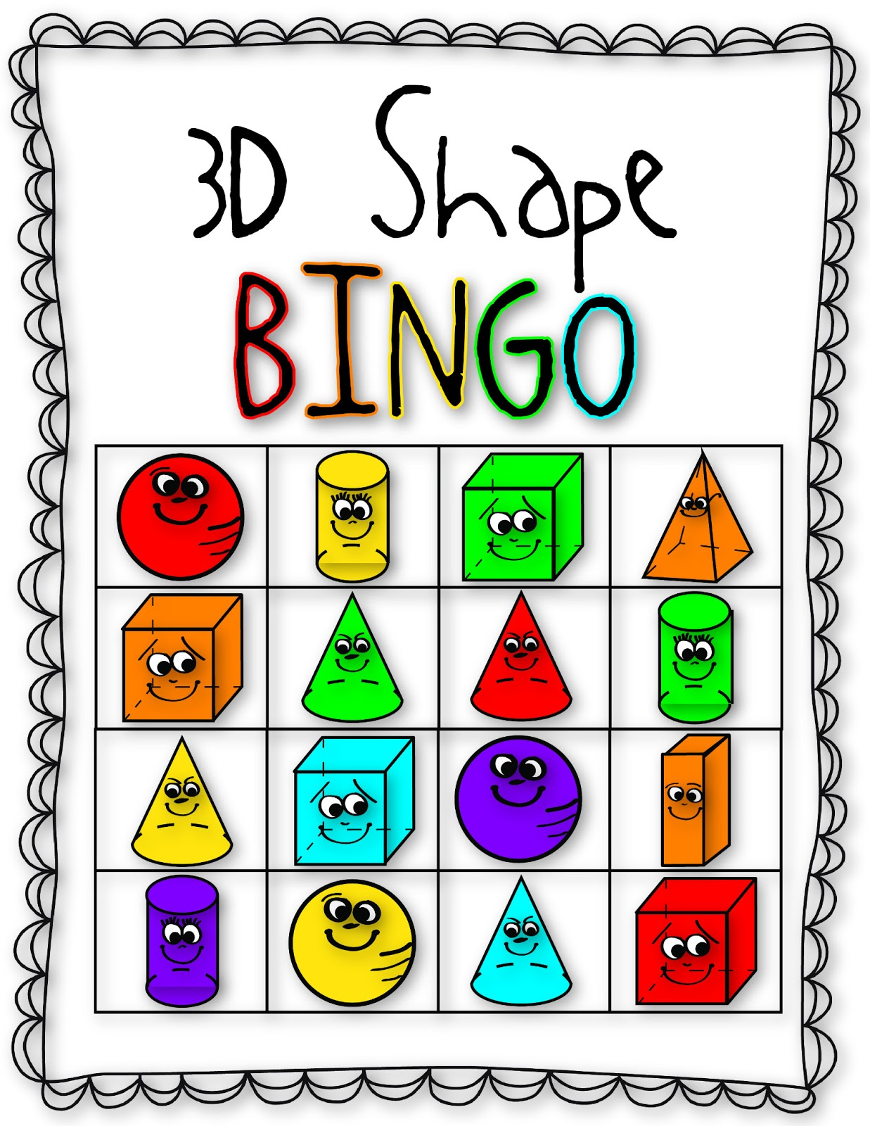 3d Shapes Fall into first: 3d shape fun!