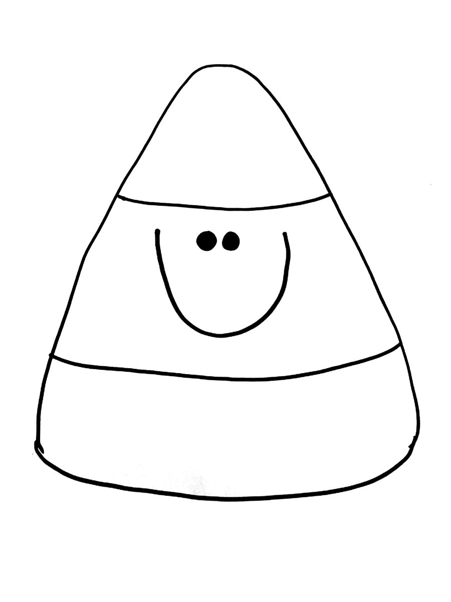candy corn coloring pages - photo#5