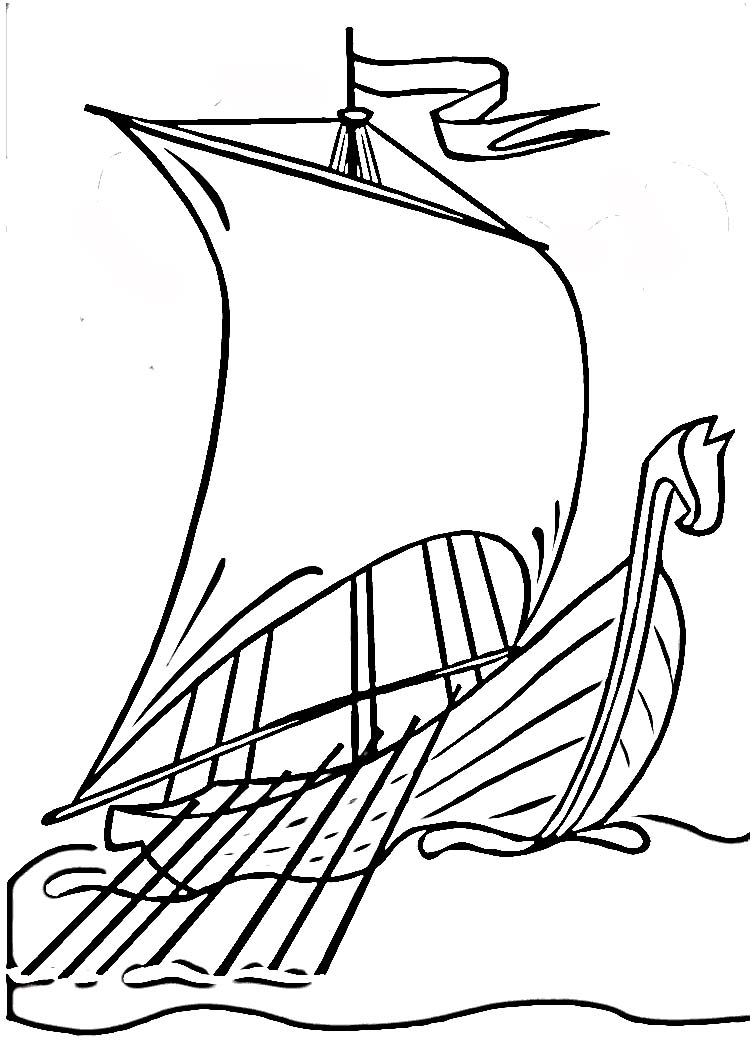 Line Drawing Ship : Viking ship drawing clipart best