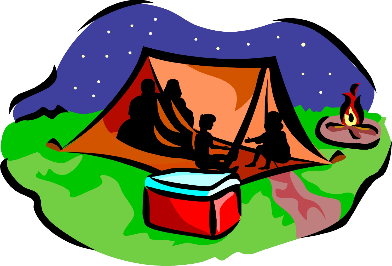 Clipart Sleeping Bag Camping Clipart Best