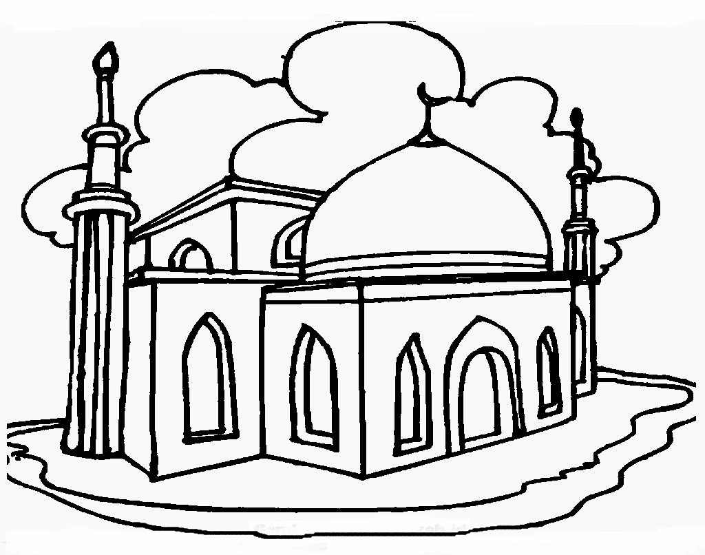 35 mewarnai masjid . Free cliparts that you can download to you ...