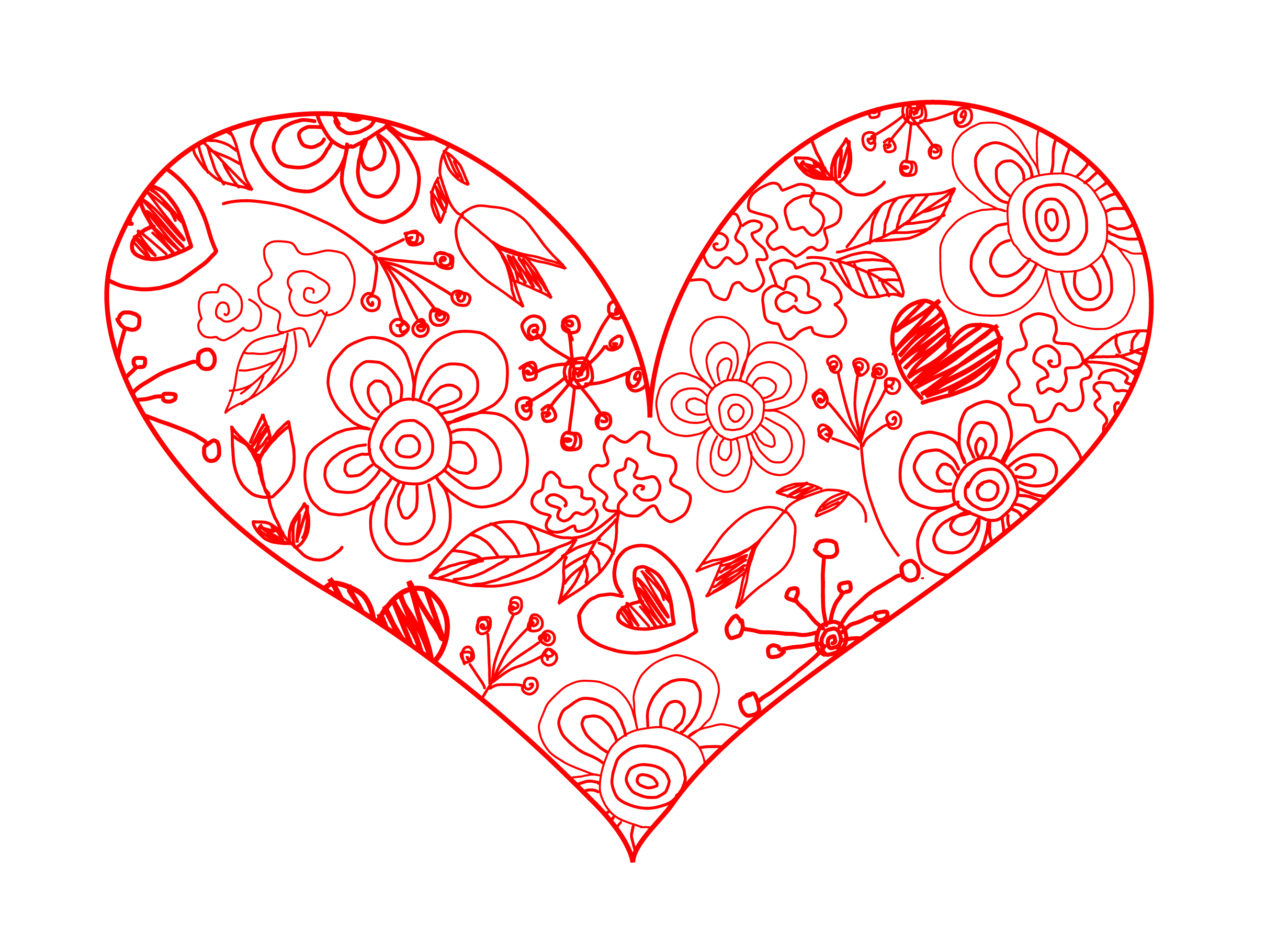 Line Drawing Valentine : Free valentine heart clipart best