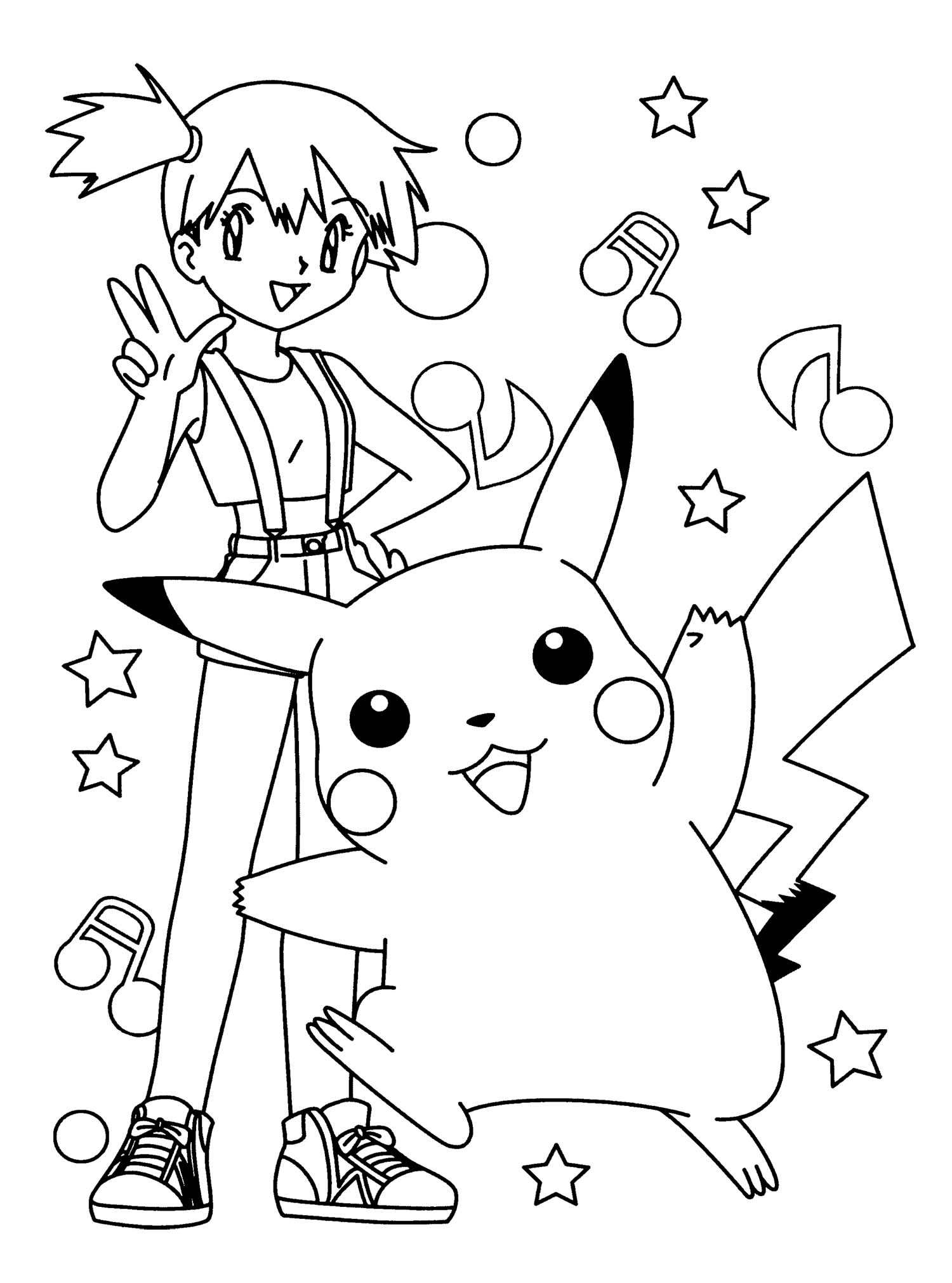 R Pikachu Coloring Pages