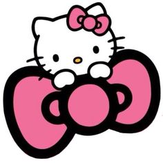 Hello Kitty Pink Bow Clipart Hello Kitty Bow Svg Te...