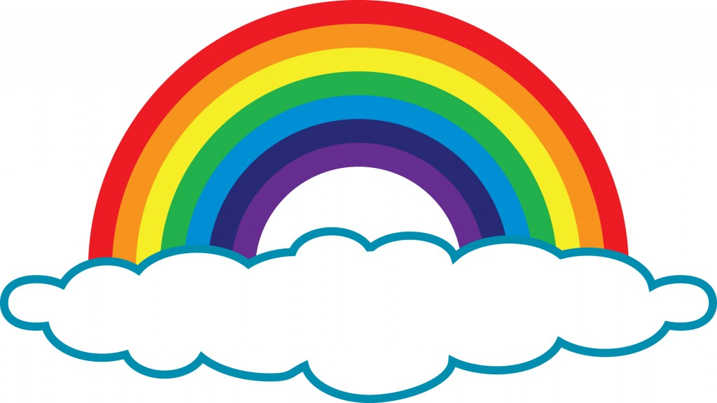 clipart rainbow with clouds - photo #9