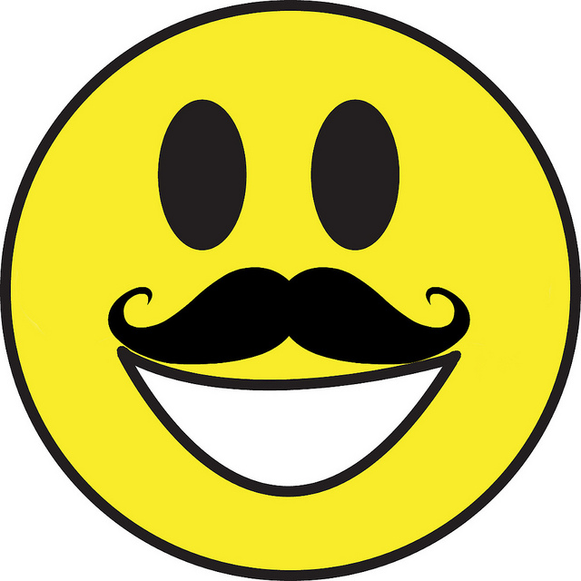 Smiley Face With Mustache | Clipart Panda - Free Clipart Images