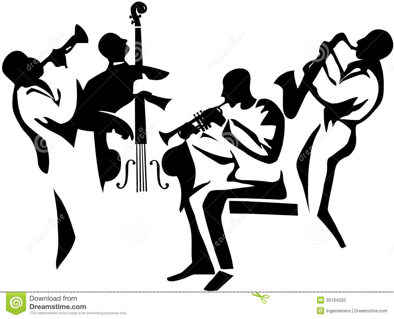 Clip Art Jazz Band - ClipArt Best