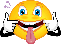 Smiley face tongue out clipart