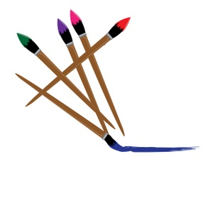 Clip art paint brushes