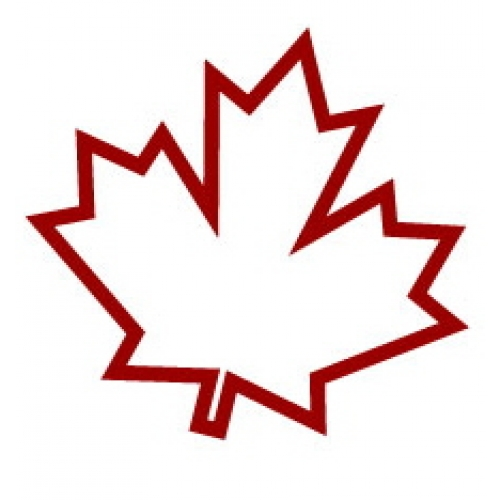 canadian maple leaf outline clipart best