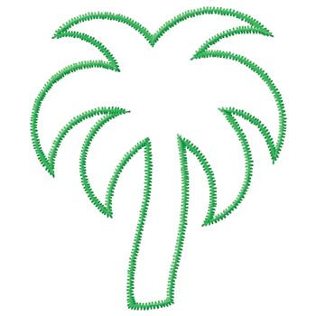 Coconut Palm Trees on Island coloring page  Free