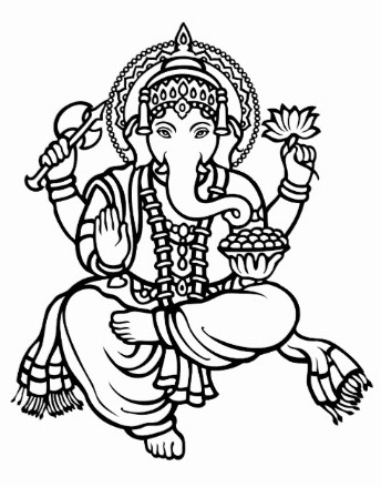 Ganesha Sketches For Glass Painting
