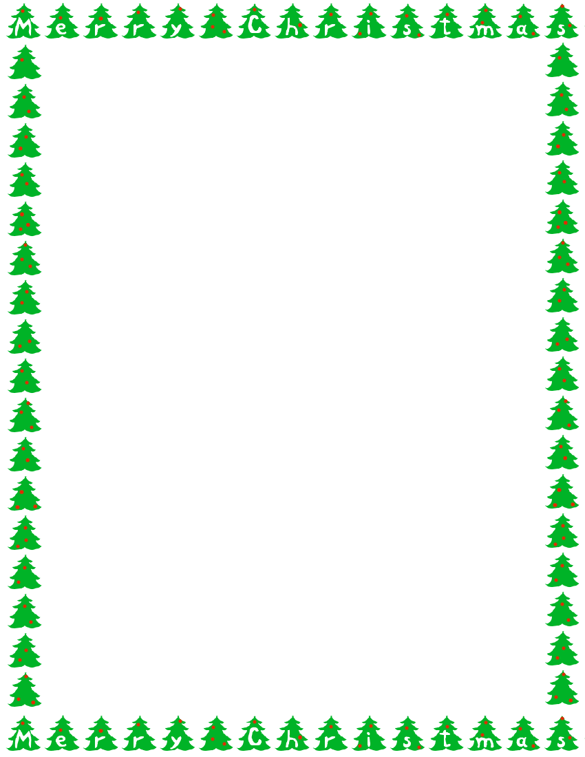 christmas tree border clipart 2 - Home Design Plan ...
