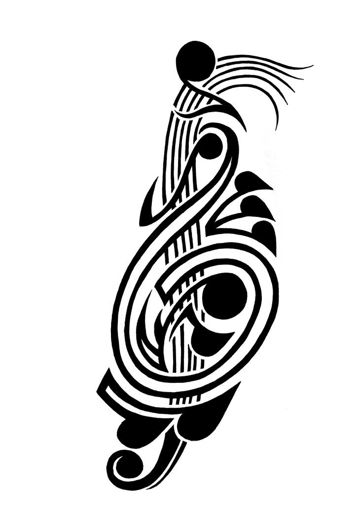 http://www.clipartbest.com/cliparts/Kin/oz6/Kinoz6q5T.jpeg Tribal Music Tattoo Designs